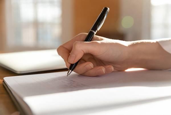 Pisanie wzeszycie